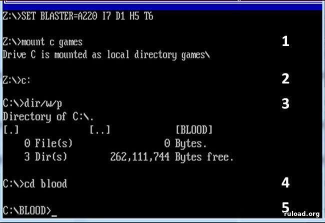 Командная строка DOSBox на Windows