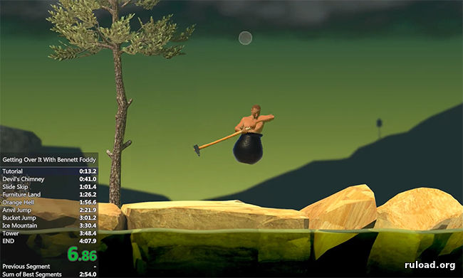 Игровой процесс Getting Over it with Bennett Foddy