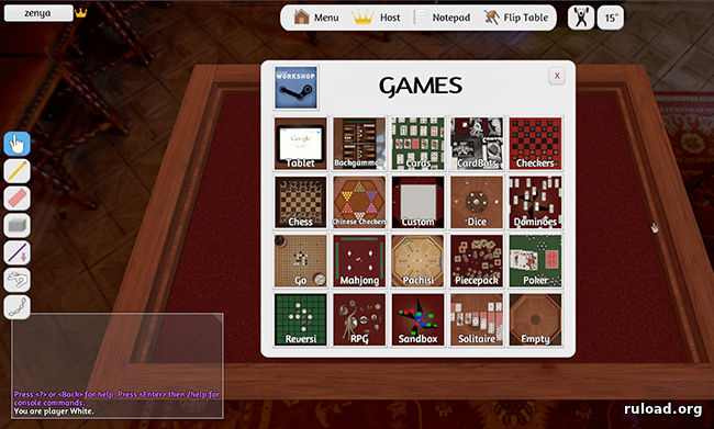 Русская версия Tabletop Simulator