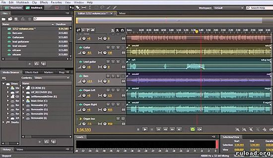 Adobe Audition CC на русском