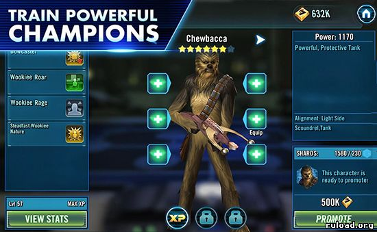 Star Wars Galaxy of Heroes на телефон