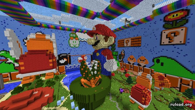 Hide and Seek Mario Minecraft map