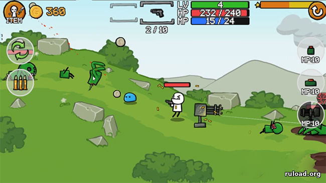 Скачать игру на компьютер stickman and gun 2