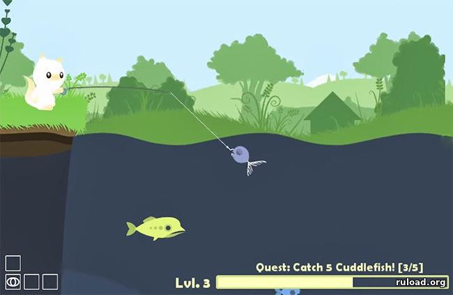 симулятор котика ловит рыбу