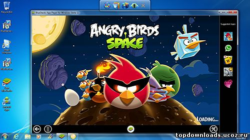 Игра, запущенная на BlueStacks