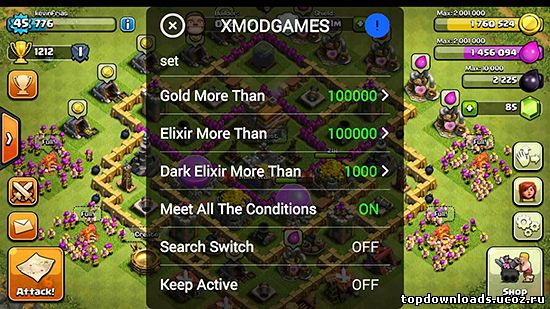 Использование XModGames для Clash of Clans